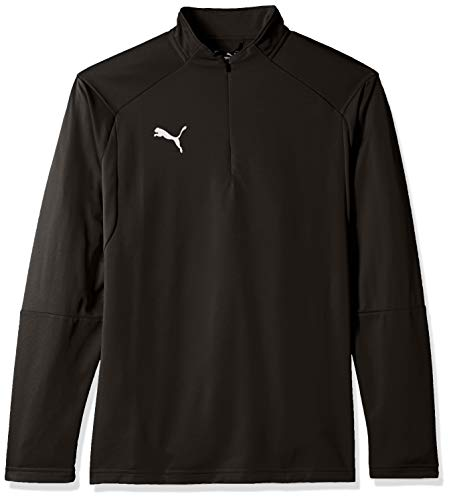 (PUMA Men's LIGA Training 1/4 Zip TOP, Black White, X-Large)