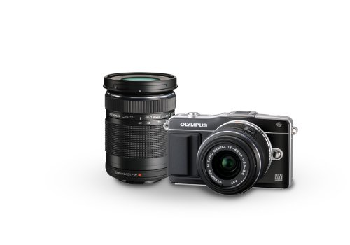 Olympus E-PM2 16MP Mirrorless Digital Camera with 14-42mm and 40-150mm Two Lens Kit (Old Model)