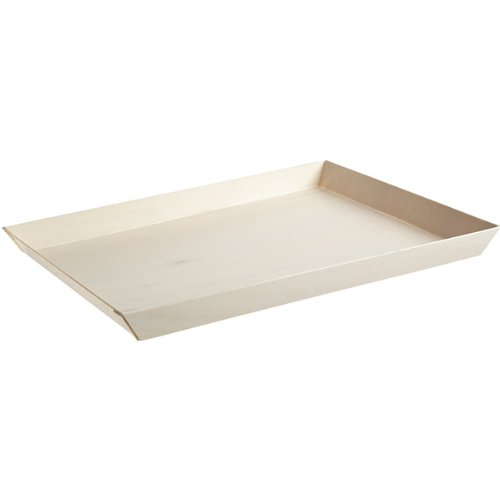 (Samurai Rectangular Wooden Tray (Case of 50), PacknWood - Biodegradable Wood Trays for Serving (10.7