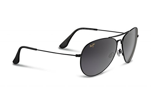 Maui Jim Sunglasses - Mavericks / Frame: Gloss Black Lens: Neutral - Jim Silver Maui Mavericks