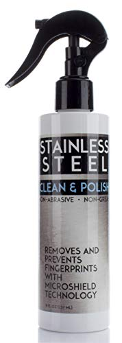 Stainless Steel Cleaner for Appliances. Cleans and polishes stainless steel and prevents finger smudges with Microshield…