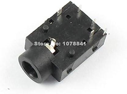Davitu 10 Pcs Per Lot 3.5mm Female Audio Connector 6 Pin DIP Stereo Phone Jack PJ3053