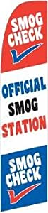 SMOG CHECK Swooper Feather Flag