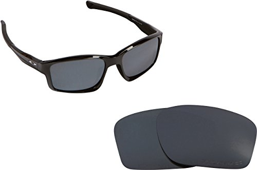 New SEEK Replacement Lenses Oakley Chainlink Asian Fit Polarized Black Iridium (Chainlink Lenses)