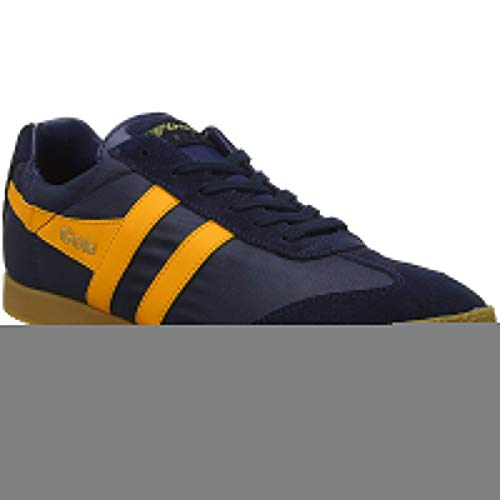 Gola Mens Harrier Textile Suede Navy Sun Trainers 10 ()