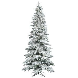 Vickerman 12 ft. Flocked Slim Utica Fir Pre-lit LED Christmas Tree (Flocked Utica Tree)