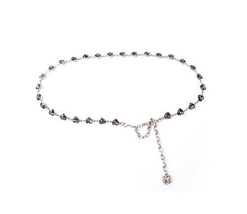 6406010b359e8 Amazon.com   DRAGON SONIC Dress Decorative Waist Chain Peach Heart-Shaped Metal  Waist Chain   Sports   Outdoors