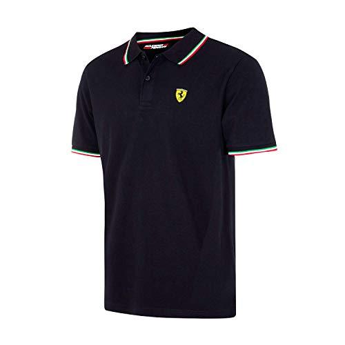 (Ferrari Black Tipped Polo Shirt)
