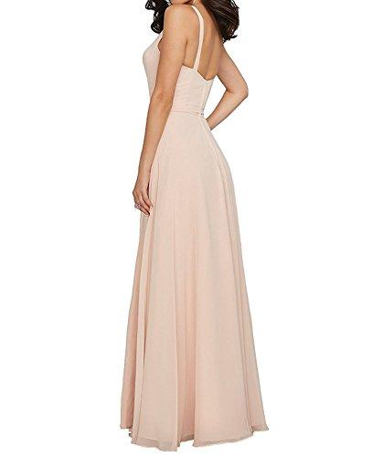 Abendkleider Partykleider Braut Festlichkleider Ballkleider Formalkleider La Damen Chiffon Perlen Dunkel Brautjungfernkleider Rosa Gelb mia 0zw5qz