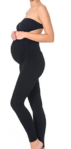 Mothers Essentials Maternity Pregnant Women Leggings, Seller from USA (Small, Black)