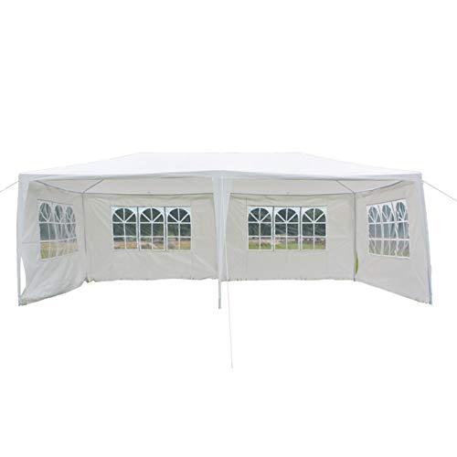 Luyao 3 x 6m 4面防水テント スパイラルチューブ付き ホワイト   B07P8XCP23