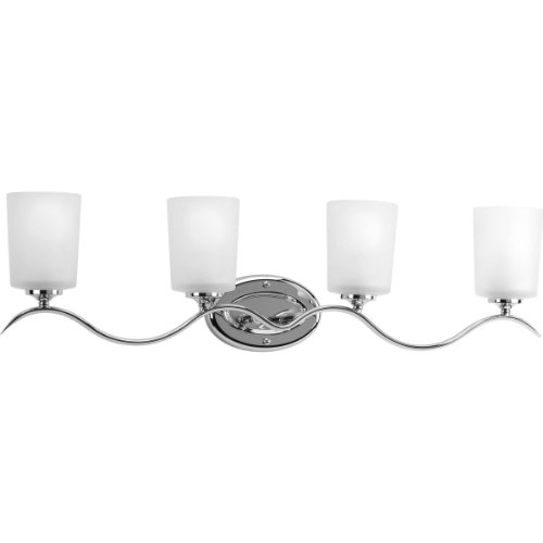 Progress Lighting P2021-15 Med Bath Bracket, (Chrome Finish 4 Bulbs)