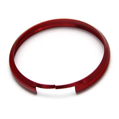 iJDMTOY Red Finish Smart Key Fob Replacement Ring Compatible With 08-up Mini Cooper JCW R55 R56 R57 R58 R59 R60: Automotive