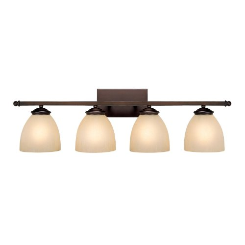 Capital Lighting 8404BB-201 Vanity with Mist Scavo Glass Shades, Burnished Bronze - Scavo Glass Accessory