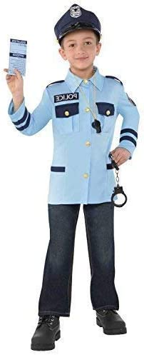 Police Kit Fancy Dress Officer Cop Officer PC Uniform Costume Accessory Set