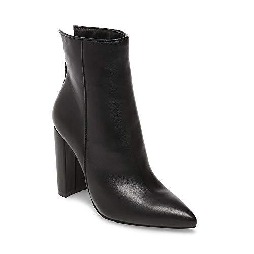 Trista Black Leather Bootie Dress 9 US ()
