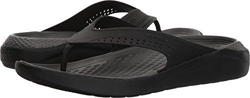 Crocs LiteRide Flip Flop, Black/Slate Grey, 11 Men / 13 US W