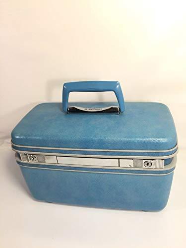 Samsonite Silhouette Vintage Sky Blue Hard Shell Train Case