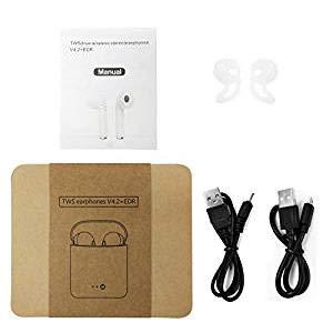 Auriculares Inalambricos Bluetooth,Manos Libres Invisible Auricular Deportivos con Microfono con Caja de Carga,
