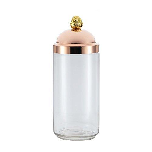 Ruffoni 99232 1.6-Qt. Kitchen Jar Glass Food Canisters, (Legacy Brass Knobs)