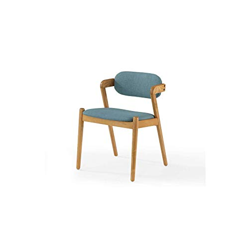 Wood & Style Furniture Mid-Century Dining Chair, Stockholm Capri Home Office Commerial Heavy Duty Strong Décor