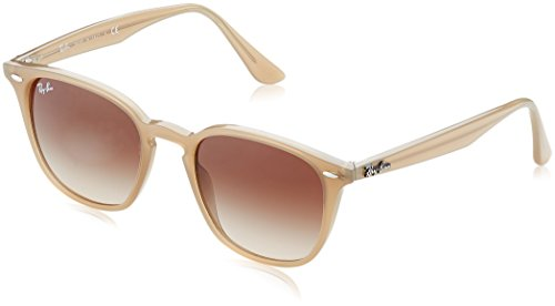 Ray-Ban Injected Unisex Square Sunglasses, Shiny Opal Beige, 50 - Beige Ban Clubmaster Ray