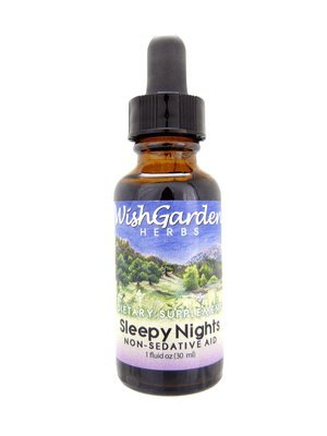 WishGarden Herbs - Sleepy Nights, Organic Herbal Sleep Aid, Supports Healthy Sleep Cycles, Wake Up Fresh in the Morning (1 oz)
