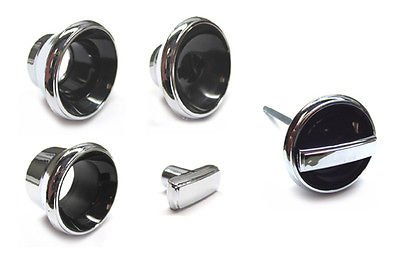 The Parts Place Chevrolet Chevelle El Camino Impala Dash Knob Bezel Set - 5 Pieces (Dash El Camino)
