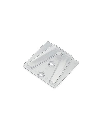 Parapet Clip - Holiday Lighting Outlet Parapet Clip, Flat Surface Clip to Be Used with Shingle Tab for Christmas Lights, Glue or Screw to Surface, Pack of 25