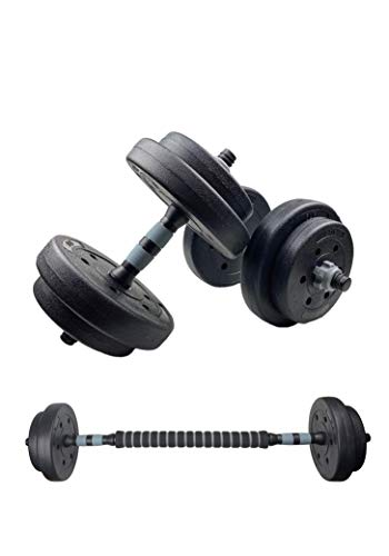 SWIFTFIT Adjustable Dumbells Barbell Weight Set, All in One Including a Barbell Connector for Home Office and Gym (20…