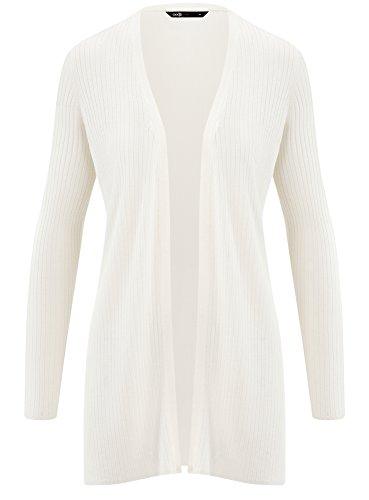 oodji Aperto Bianco 1200n Donna Ultra Lungo Cardigan wrx4fq7Aw