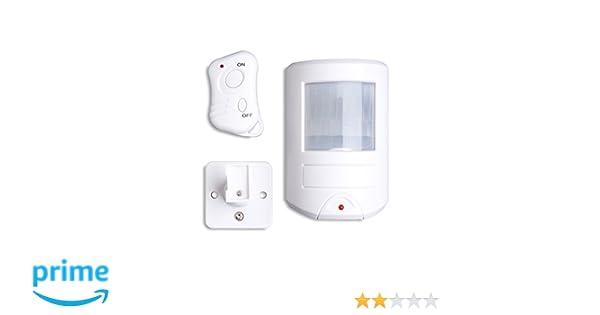 Alarma con sensor de movimiento PIR Defender con llavero RF ...