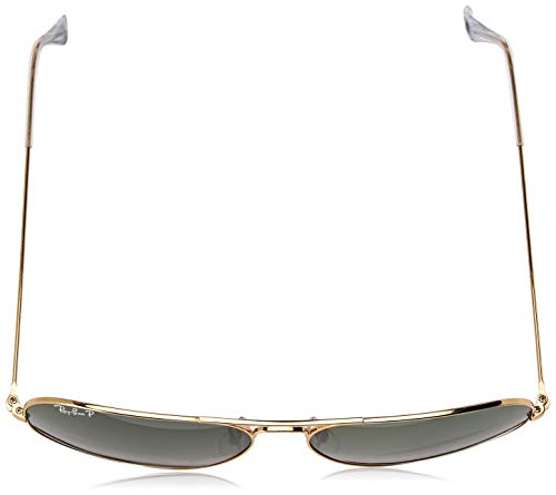 mm Ban 58 Ray Goldfarben Soleil de Metal Aviator Or Lunettes RB3025 7RPqn8