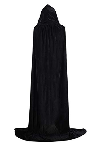 Black Sopliagon Donne Dimensioni Incappucciato Cosplay Le Costume Di Mantelli Più Halloween vagrTxvwWq
