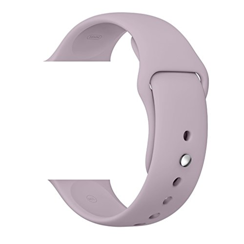 Vitech Soft Silicone Replacement Sport Band for 42mm Apple Watch Models (3 Pieces of Bands Included for 2 Lengths, for Apple Watch Series 1 Series 2 Sport&Edition 2016) (42mm-Lavender)