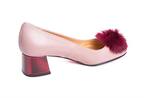 Varios Salón Pompón Tacón Lua Zapato Colores fqOgTBqw