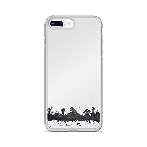 iPhone 7 Plus/8 Plus Pure Clear Case Cases Cover Halloween Town Nightmare Before Christmas Inspired Watercolor Sk]()