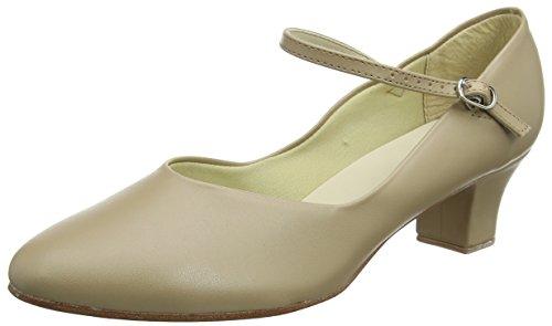 scarpe 4 nbsp;cm Weite So 0 Danca Tan scarpe Beige tacco pelle M suola carattere in qvtwf