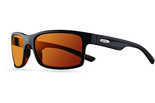 Revo Crawler RE 1027 01 OR Polarized Rectangular Sunglasses, Matte Black/Tortoise Open Road, 59 - Or Sunglasses Tortoise Black