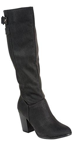 Andres Machado Stiefel Damen schwarz Größe 35