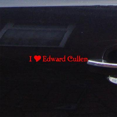 LAPTOP ADHESIVE VINYL I HEART EDWARD CULLEN BIKE NOTEBOOK CAR WALL DECAL HELMET DECOR HOME DECOR VINYL CAR ART WALL ART AUTO RED DECORATION