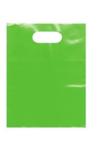 9 x 12 Low Density 1.25 mil Merchandise Bag (Pack of 25) (Lime) -