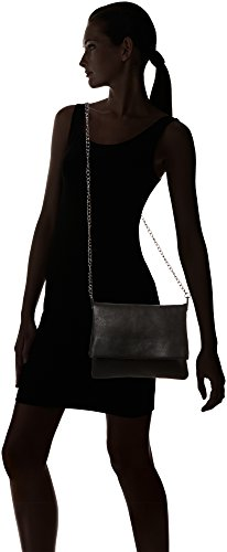 PIECES Damen Pcravin Cross Body Umhängetasche, Schwarz (Black), 1x22x27 cm