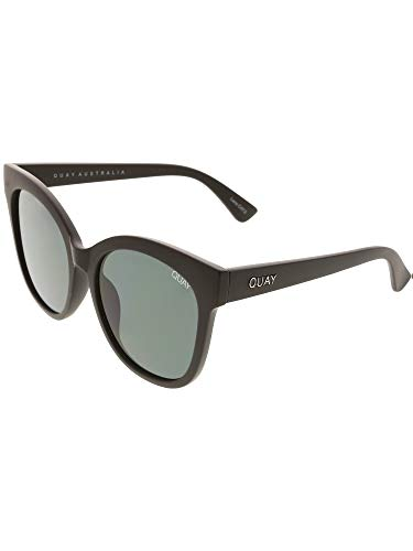 Quay Australia ITS MY WAY Womens Sunglasses Oversized Cat Eye -Black/Smoke
