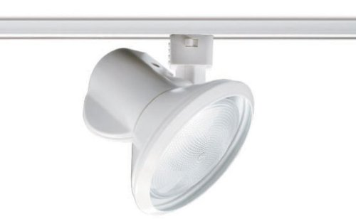 Juno Lighting T231WH Trac-Master Close-Up Line Voltage PAR30 Enclosed Lampholder, White - Low Profile Track Lighting
