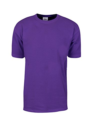 (MHS08_3X Max Heavy Weight Cotton Short Sleeve T-Shirt Purple 3X)