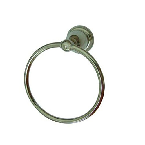Kingston Brass BA1754PN Heritage Towel Ring, Polished Nickel
