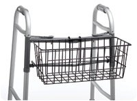 Carrying Basket Black. (For Folding Walker) (Walker Carrying Basket)