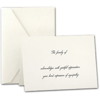 Crane Co. Pearl White Sympathy Acknowledgment Note Cards