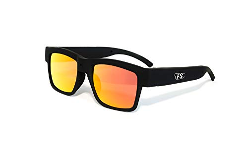Film Shades Camera Sunglasses -1080p HD Video & Audio Camera Glasses for Recording Outdoor and Travel Adventures - Stylish and Modern Design - Polarized Orange Lenses - Includes Internal 32GB Memory